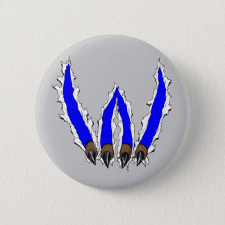 Wildcats Claw Ripping Through Design - Blue Button