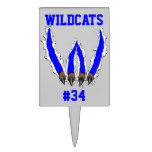 Wildcats Claw Ripping Through Design - Blue Cake Topper