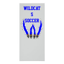 wildcat, wildcats, claws, ripping, through, al rio, art, artwork, team, sports, Invitation with custom graphic design