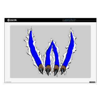 Wildcats Claw Ripping Through Design - Blue Decals For Laptops