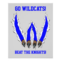 wildcat, wildcats, claws, ripping, through, al rio, art, artwork, team, sports, Flyer with custom graphic design