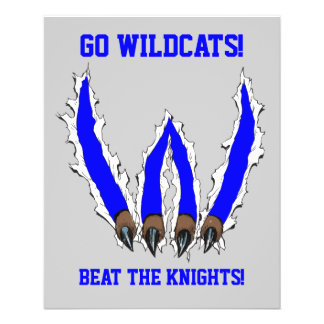 Wildcats Claw Ripping Through Design - Blue Flyer