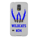 Wildcats Claw Ripping Through Design - Blue Galaxy S5 Case