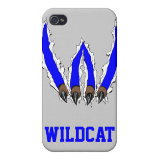 Wildcats Claw Ripping Through Design - Blue iPhone 4/4S Case