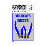 Wildcats Claw Ripping Through Design - Blue Stamp
