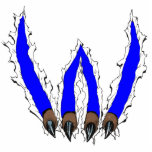 Wildcats Claw Ripping Through Design - Blue Statuette