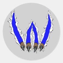 wildcat, wildcats, claws, ripping, through, al rio, art, artwork, team, sports, Adesivo com design gráfico personalizado