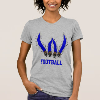 Wildcats Claw Ripping Through Design - Blue T Shirt