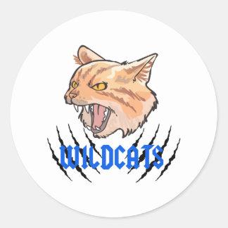Wildcats Claw Tears Classic Round Sticker