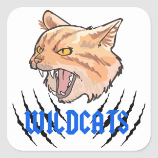 Wildcats Claw Tears Square Sticker