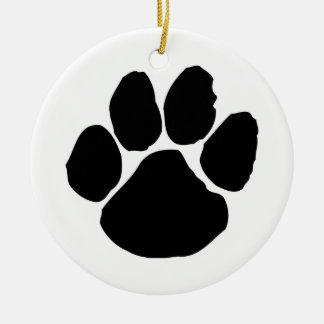 WILDCATS DEN Double-Sided CERAMIC ROUND CHRISTMAS ORNAMENT