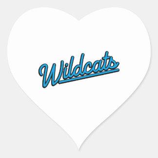 Wildcats in cyan heart sticker