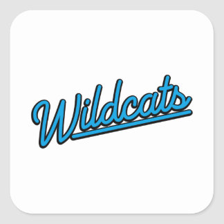 Wildcats in cyan square sticker
