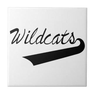 Wildcats Lettering Ceramic Tile