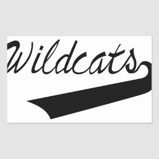 Wildcats Lettering Rectangular Sticker