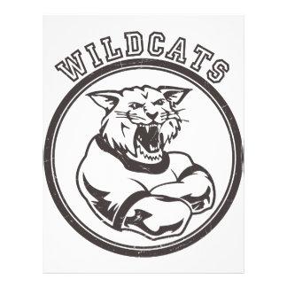 """Wildcats Mascot 8.5"""" X 11"""" Flyer"""