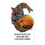 Wildcats or BobCats Basketball Player by Al Rio Business Cards