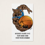 Wildcats or BobCats Basketball Player by Al Rio Business Card