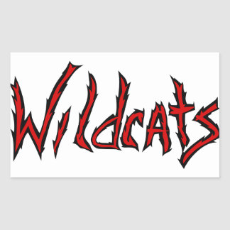 Wildcats Rectangular Sticker