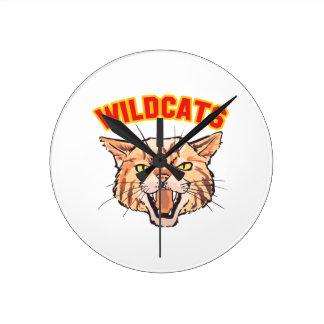 Wildcats Round Clock