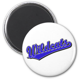 Wildcats script logo in blue fridge magnets