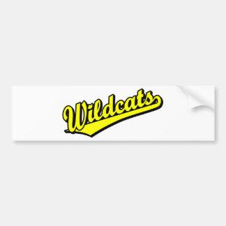 Wildcats script logo in gold car bumper sticker
