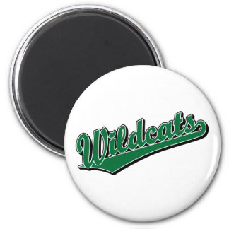Wildcats script logo in green refrigerator magnets