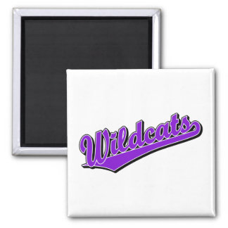Wildcats script logo in purple refrigerator magnets