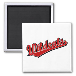 Wildcats script logo in red refrigerator magnets