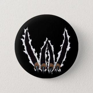 Wildcats Sports Team Claw Ripping Through - Al Rio Pinback Button