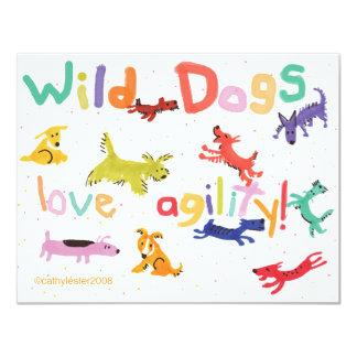 """WildDogs Invitación 4.25"""" X 5.5"""""""