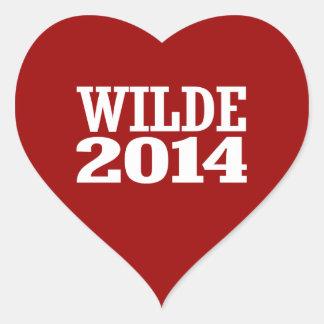 WILDE 2014 HEART STICKER