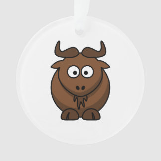 Wildebeast Cartoon Ornament