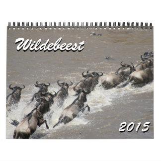 wildebeest 2015 calendar