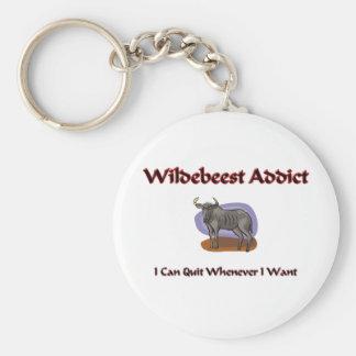 Wildebeest Addict Keychains