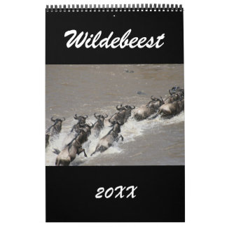 wildebeest África Calendarios