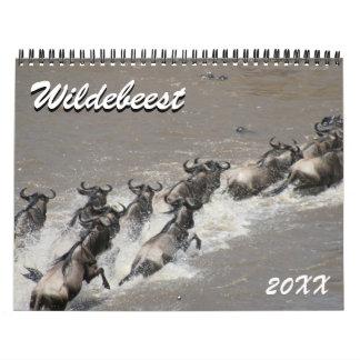 wildebeest calendario de pared