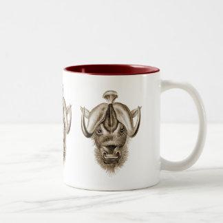 Wildebeest - Connochaetes taurinus Two-Tone Coffee Mug