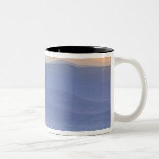 Wildebeest during migration, Connochaetes Two-Tone Coffee Mug
