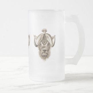 Wildebeest Frosted Glass Beer Mug
