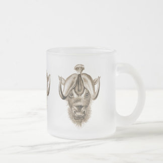 Wildebeest Frosted Glass Coffee Mug