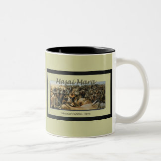 Wildebeest / Gnu migration, safari mugs & cups