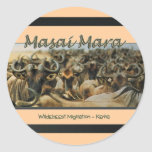 Wildebeest / Gnu migration, safari stickers