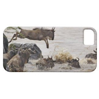 Wildebeest jumping into Mara River during iPhone SE/5/5s Case