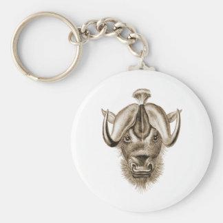 Wildebeest Keychain