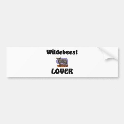 Wildebeest Lover Bumper Stickers