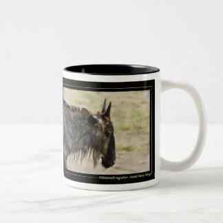 Wildebeest migration Kenya wildlife mugs & cups