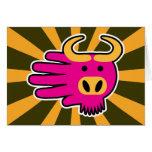 Wildebeest rosado del Gnu Felicitaciones