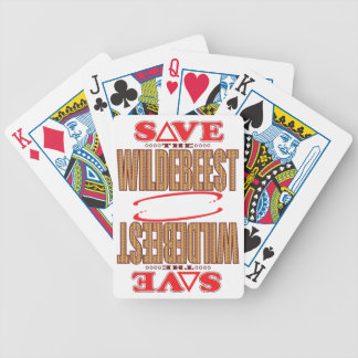 Wildebeest Save Bicycle Playing Cards