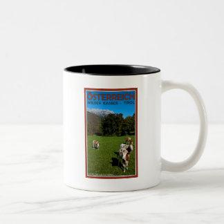 Wilder Kaiser - Cows Two-Tone Coffee Mug